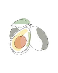 Graphic Design Illustration, Illustration Art, Avocado Art, Minimalist Drawing, Fashion Wall Art, Line Drawing, Flower Art, Line Art, Vector Art
