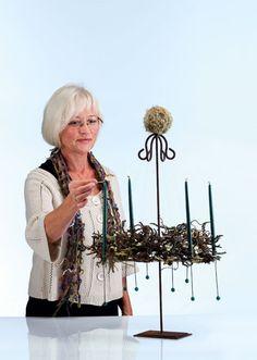 Blomsterdekoratør Helen Olsens adventskrans | Bobedre.dk