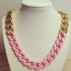 Gold chain necklace chunky gold chain link by McIntoshJewelry, $24.00