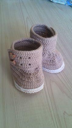 scarpe bimba lana maglia, by maglieria magica, 11,00 € su misshobby.com