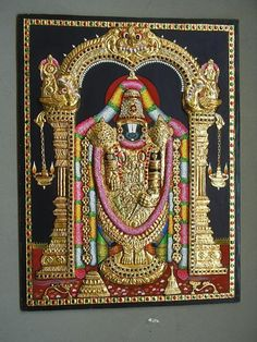 Mysore Painting, Tanjore Painting, Indian Paintings, Leaf Paintings, Portrait Paintings, Wonder Art, Lord Vishnu Wallpapers, Gouache Painting, Saree Painting