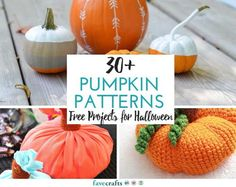 30 Pumpkin Patterns: Free Projects for Halloween - Check out these Halloween crafts and pumpkin DIY ideas.