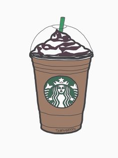 girly tumblr transparents starbucks - Google Search