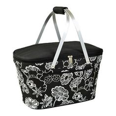 Picnic at Ascot Collapsible Insulated Basket Night Bloom