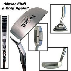 """Texan Classics LEFTY Chipper - Makes chipping easy! by Texan Classics. $16.99. Stainless Steel construction with last and look great for years.. Unique design with 38° loft that makes chip shots easy. Steel shaft- regular flex. Grip: Texan Classics soft velvet. Length: 36"""". Left hand. Brand new.. Save 66% Off!"""