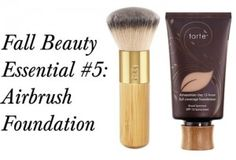 Friends, I have found the holy grail of foundations and thy name is Tarte Amazonian Clay 12-hour Full Coverage Foundation ($38). It sounds like heavy artillery but Tarte's Airbrush Finish Bamboo Foundation Brush ($32) buffs it into smooth, flawless submission. Unlike most full-coverage products,