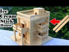 How to Make Modern Popsicle Sticks House - Building Popsicle Stick Mansion - YouTube