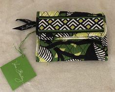 """Vera Bradley Euro Wallet cotton fabric 5½"""" x 4 La Neon Rose 10874 trifold #VeraBradley #Wallet"""