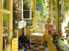 yellow english country rooms | garden theme room