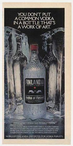 Vintage Alcohol Ads of the (Page Camping Set, Retro Design, Packaging Design, Vodka, 1970s, Alcohol, Ads, Bottle, Artwork
