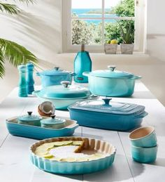 Le Creuset Cool Mint mixed with Caribbean
