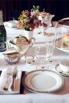 Glamorous Fashion & High Tea _ more glamour with a champagne afternoon tea at The Worsley, London ... yes please