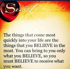 The Secret To The Power of You Is To Believe In You!!