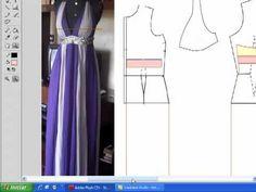 Vestido Com Nesgas - Aula de Modelagem