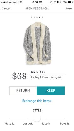 RD Style Bailey Open Cardigan. I love Stitch Fix! A personalized styling service and it's amazing!! Simply fill out a style profile with sizing and preferences. Then your very own stylist selects 5 pieces to send to you to try out at home. Keep what you love and return what you don't. Only a $20 fee which is also applied to anything you keep. Plus, if you keep all 5 pieces you get 25% off! Free shipping both ways. Schedule your first fix using the link below! #stitchfix @stitchfix…