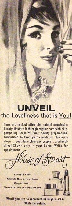 House of Stewart Cosmetics Ad, 1961
