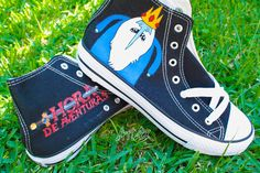 "#Zapatillas ""Hora de Aventuras"" (Título y Ice King)    /    Customized Shoes ""Adventure Time"" (Title and Ice King)"