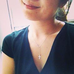 Cross and Infinity Lariat Necklace - All Sterling Silver - Faith Forever - All Sterling Silver - Everyday Jewelry