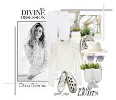 """Olivia Palermo- White Lace"" by goreti ❤ liked on Polyvore featuring Gabor, Nearly Natural, Chanel, Alexander McQueen, Filù Hats, Rebecca Minkoff, Yves Saint Laurent, Temperley London, Prism and Vera Wang"