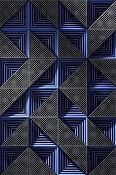 Ideas For Wall Design Texture Geometry 3d Pattern, Pattern Design, Wall Patterns, Textures Patterns, Motif Art Deco, Wall Cladding, Texture Design, Wall Treatments, Ceiling Design