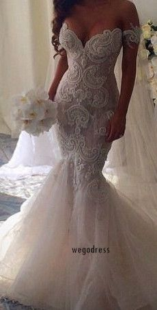 wedding dresses mermaid -repinned from Southern California wedding minister https://OfficiantGuy.com