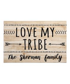 e2a76acf1b82c Personalized Planet  Love My Tribe  Personalized Doormat