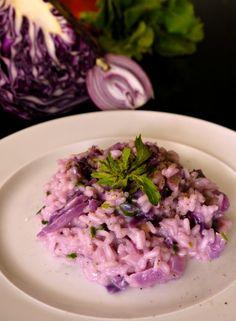 ριζότο με κόκκινο λάχανο - http://www.pandespani.com/syntages/risotto-me-kokkino-lahano/