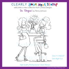 Shopping Bliss (clear set) - USD : Your Next Stamp Girls Night Out, Clear Stamps, Vogue, Paper Crafts, Bliss, Cards, Collection, Design, Shopping