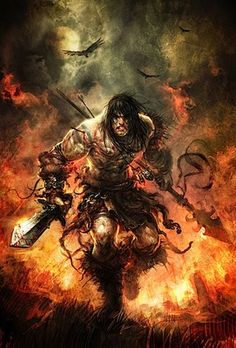 Conan the (running at you with murderous intent) Barbarian?