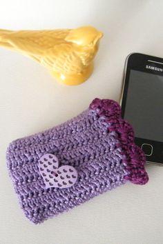 crochet mobile case
