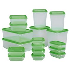 PRUTA Food container, set of 17 - IKEA $4.99 and did you know that most of IKEA's plastic food containers are BPA free?!