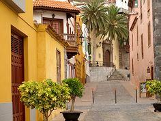 Garachico Town street - Canary Islands, Spain