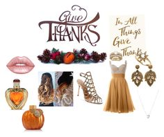 """Thanksgiving is time for giving and and love so call someone you love and tall them you love them."" by sweet-chick80 ❤ liked on Polyvore featuring Sixtrees, Schutz, Links of London, Allurez, Anzie, Lime Crime and Victoria's Secret"