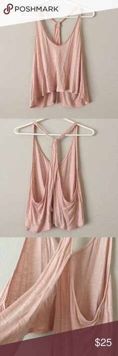Light Pink Urban Outfitters Crop Trop Open back. Super Flowy and Soft. Really easy to dress up or down. In great condition! Urban Outfitters Tops Crop Tops