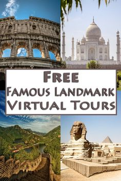 Free Famous Landmark Virtual Tours That Will Feed Your Wanderlust Virtual Travel, Virtual Tour, Virtual Reality, Virtual Field Trips, Famous Landmarks, Thing 1, Fun Learning, Travel Around, Geography