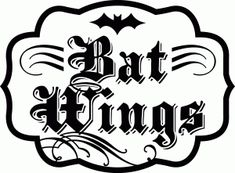 Silhouette Design Store - View Design #49834: 'bat wings' halloween label saying