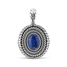 Sterling Silver Lapis Interchangeable Pendant Enhancer >>> You can get additional details at the image link.