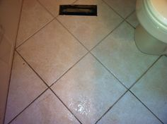 Cleaning A Bathroom Tile Floor When We Were Done It Looked New This Was