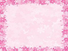 pink floral borders | Pink floral frames PPT Backgrounds - Border & Frames, Pink ...
