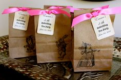 SET OF 10 - Alice in Wonderland Party  Favor Bags  - LARGE - You Choose Ribbon Color. $25.00, via Etsy.