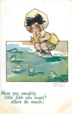 Artist: Agnes Richardson Now you naughty little fish you mustn't stare so much!