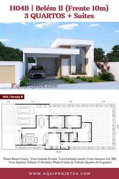 Single Floor House Design, Small House Design, Modern House Design, Bungalow Floor Plans, Modern Bungalow House, Single Storey House Plans, House Construction Plan, Beautiful House Plans, Model House Plan