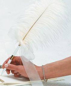 Plume Feather Wedding Pen