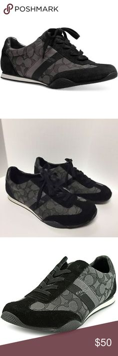 NEW Coach Kelson Outline Signature C Sneakers Walk with grace and comfort with the Kelson Outline sneaker. Lace-up closure with blind eyelets. Soft fabric lining and footbed. Rubber outsole. Coach Shoes Sneakers