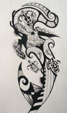 polynesian designs and patterns | ... Tribal Tattoo Gallery Design #25070 With Resolution 600x1014 Pixel