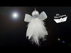 süße Engel basteln zu Weihnachten aus Geschenkbändern z.B. als Christbaumschmuck oder Fensterschmuck - YouTube