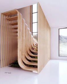 Phd stu _Architecture on interior design duplex stairs farahi house architect : eisa Interior Stairs, Home Interior Design, Interior Decorating, Residential Interior Design, Stairway Decorating, Flat Interior, Interior Concept, Diy Interior, Interior Design Inspiration