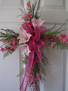 Natural Vines Easter Cross FREE SHIPPING Front Door by FunFlorals