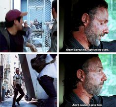 The Walking Dead 7x12 'Say Yes' Rick and Glenn feels