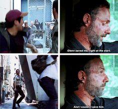 "I really miss Glenn :(. The Walking Dead S07 E12 ""Say Yes."" Season 7, Episode 12."